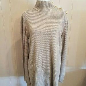 50ac2815e5b Tory Burch Dresses - Tory Burch Brodie Tunic Rib Knit Dress Sz XL NWT
